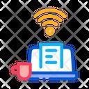 Remote Work Laptop Icon