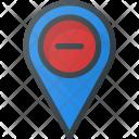 Remove Pin Geolocation Icon