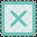 Remove Sq Fr Document Cross Icon