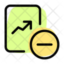 Remove Analysis Growth Graph Line Chart Icon