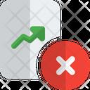 Remove Analysis Report Line Chart Delete Report Icon