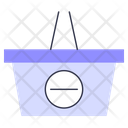 Remove Basket Purchase Commerce Icon