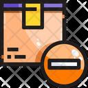 Delete Remove Box Remove Parcel Icon