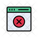 Cancel Webpage Browser Icon