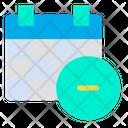 Remove Minus Calender Icon
