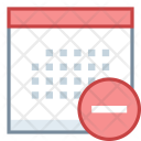 Calendar Minus Remove Icon