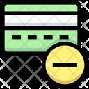Remove Card Delete Card Atm Card Icon