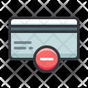 Credit Card Delete Icon