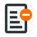 File Text Blocked Icon