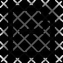 Minus Document Icon Icon