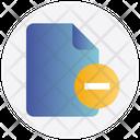File Delete Remove Icon