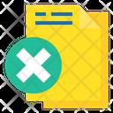 Remove File Delete File Cancel Icon