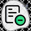 Remove File Delete File Remove Document Icon