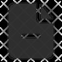 Remove File Filemin Minus Icon