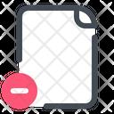 Remove File Document Icon