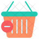 Black Friday Remove From Cart Shopping Basket Icon