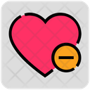 Valentine Day Delete Heart Icon