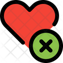 Remove Heart Remove Love Heart Icon