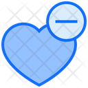 Remove Heart Heart Love Icon