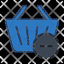 Minus Trolley Basket Icon