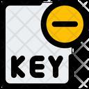 Remove Key File Key File Delete Key File Icon