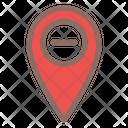 Map Location Minus Icon
