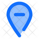 Remove Location Location Pin Icon