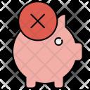 Cancel Piggybank Remove Icon