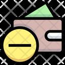 Remove Money Wallet Purse Icon