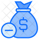 Remove Money Bag Money Icon