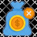Remove Money Bag No Saving Bank Icon