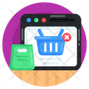 Cancel Order Remove Order Ecommerce Icon