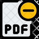Remove Pdf File Pdf File Delete Pdf File Icon