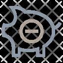 Remove Piggy Bank Icon