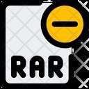 Remove Rar File Delete Rar File Delete File Icon