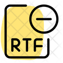 Remove Rtf File Remove File Delete File Icon