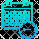 Remove Schedule Icon