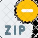 Remove Zip File Zip File Remove File Icon