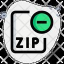Remove Zip File Icon
