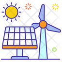 Solar Panel Renewable Energy Bioenergy Icon