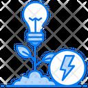 Renewable Energy Bioenergy Organic Energy Icon