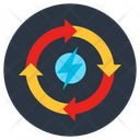 Renewable Energy Energy Refresh Energy Reload Icon