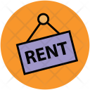 Rent Hanging Sign Icon