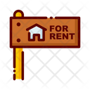 Rent Property On Rent Property Sign Board Icon