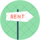 Rent Signpost Guidepost Icon