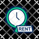 Rent Per Hour Rental Per Hour Rent Icon