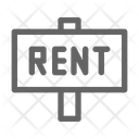 Rent Sign Property Icon