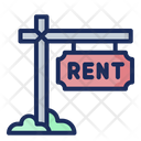 Rent Signboard For Rent Real Estate Icon