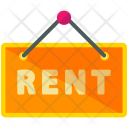 Rent Signboard Sign Icon