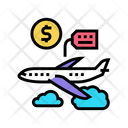 Airplane Rental Color Icon
